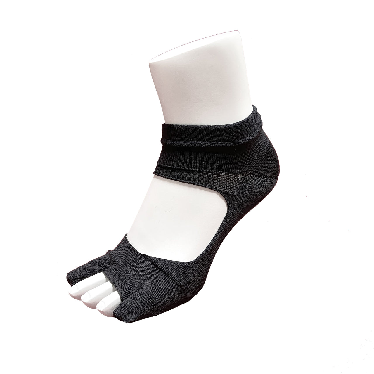 Bunion Support Foot Care Socks | Solid Black - CHERRYSTONE