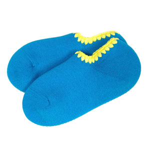 CHERRYSTONE® Slipper Socks | Candy Color with Grips | Turquoise