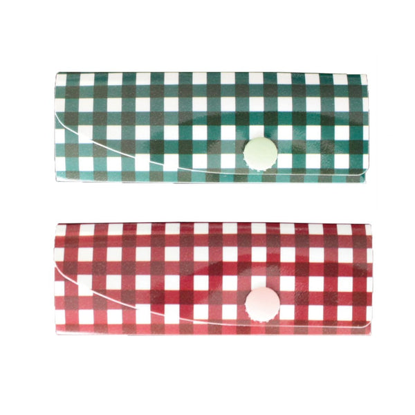 Reusable Foldable Chopsticks Cover (2PK) | Gingham - CHERRYSTONE by MARKET TO JAPAN LLC