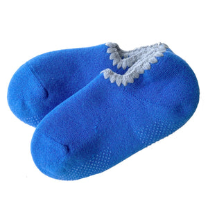CHERRYSTONE® Slipper Socks | Candy Color with Grips | Ocean Blue