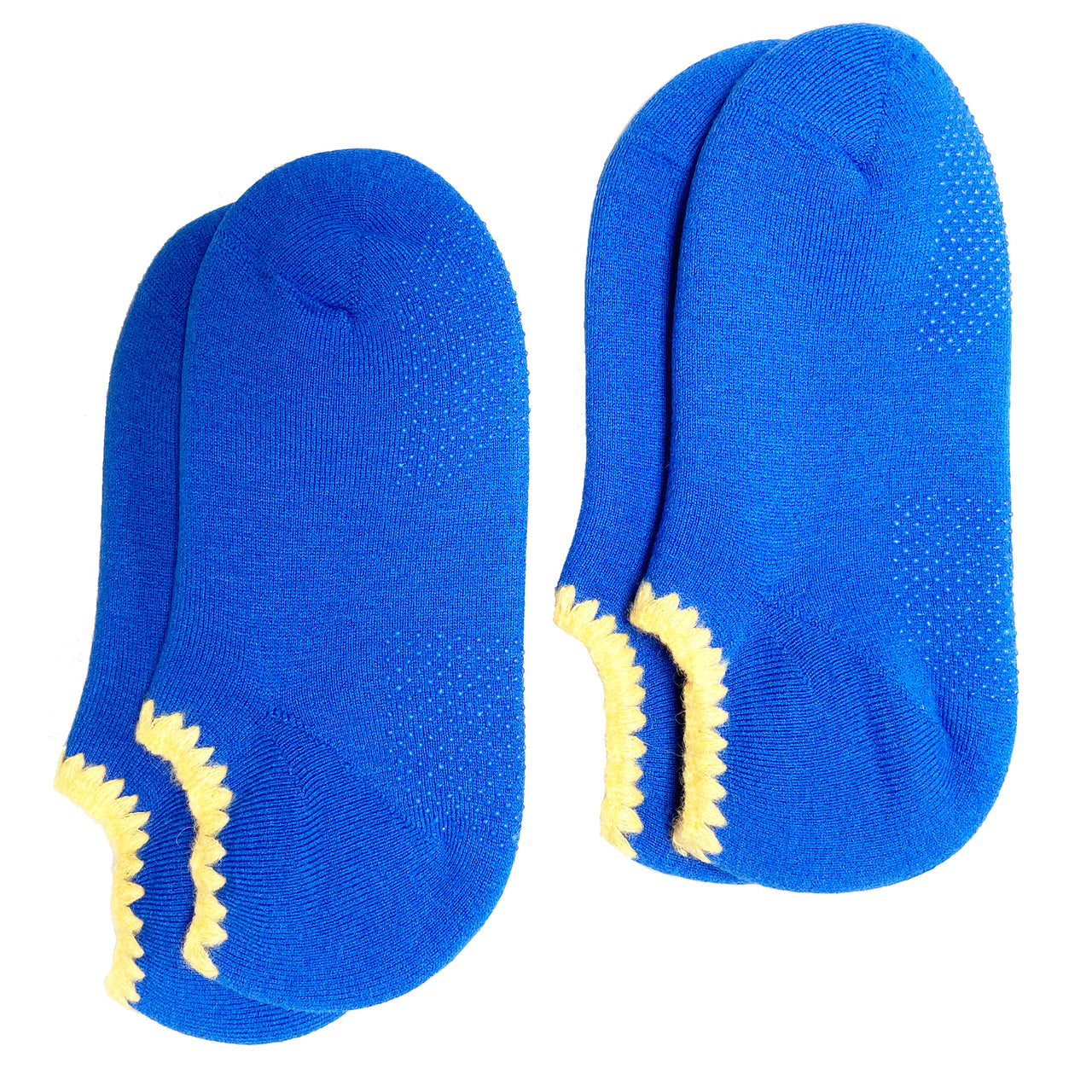 Special Deal * Set of 2 Pairs | CHERRYSTONE® Slipper Socks with Grips | Size Large | Cobalt Blue - CHERRYSTONE