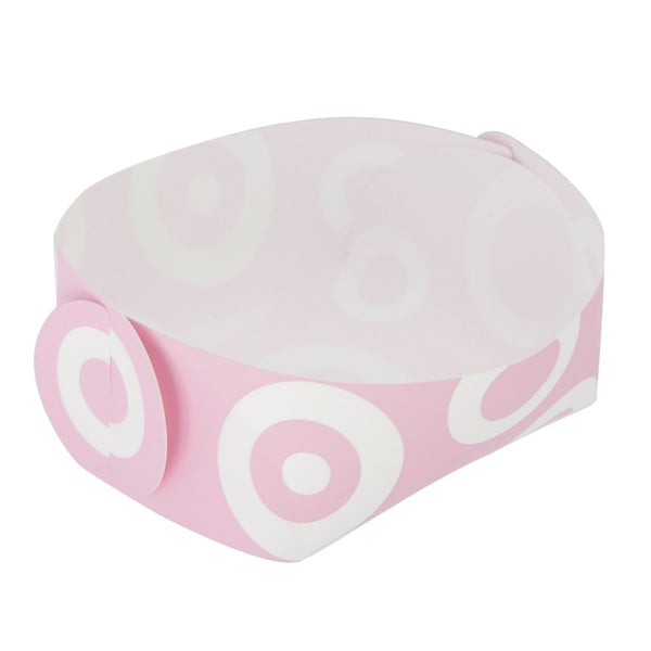 Reusable Foldable Snack Tray (2PK) | Small | Pink Circle Pattern - CHERRYSTONE by MARKET TO JAPAN LLC