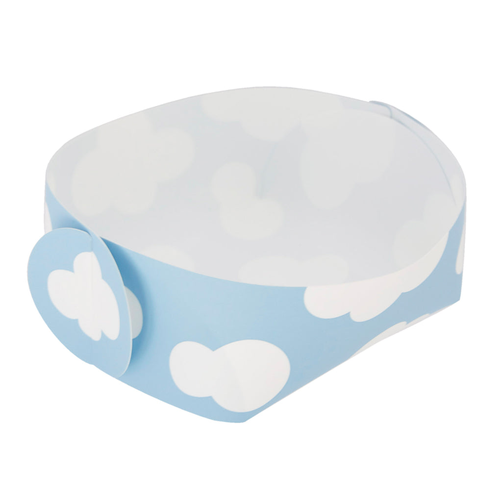 Reusable Foldable Snack Tray (2PK) | Small | Blue Sky Pattern - CHERRYSTONE by MARKET TO JAPAN LLC