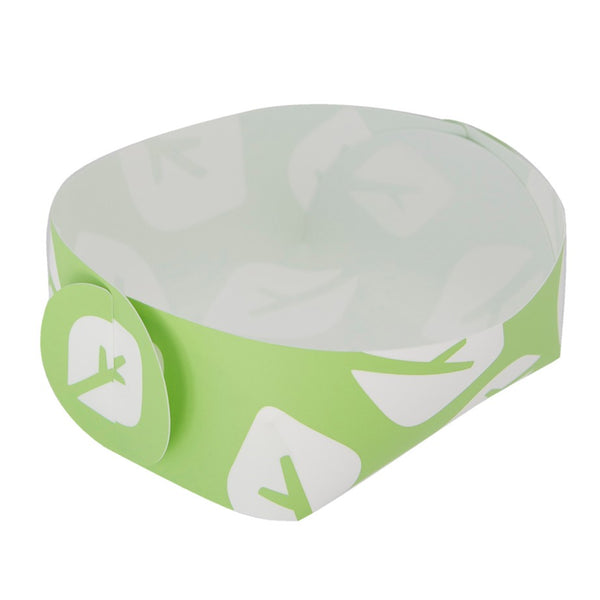 Reusable Foldable Snack Tray (2PK) | Small | Green Leaf Pattern - CHERRYSTONE by MARKET TO JAPAN LLC