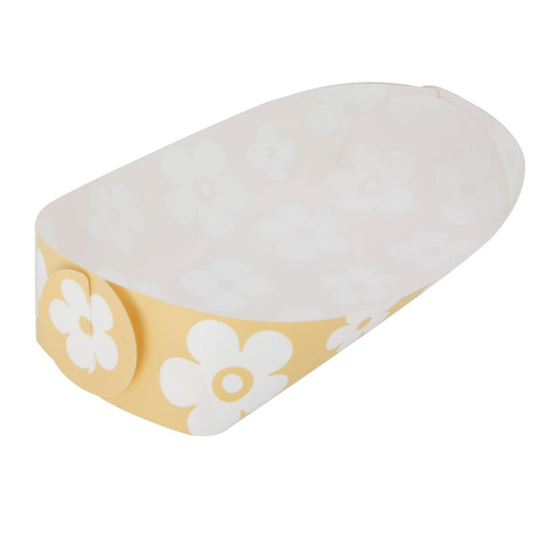 Reusable Foldable Snack Tray | Medium | Yellow Flower Pattern - CHERRYSTONE by MARKET TO JAPAN LLC