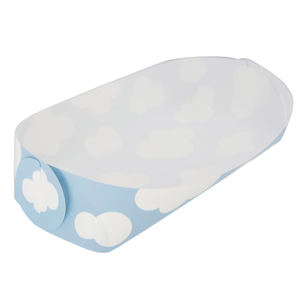 Reusable Foldable Snack Tray | Medium | Blue Sky Pattern - CHERRYSTONE