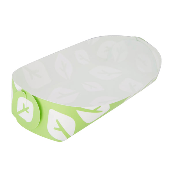 Reusable Foldable Snack Tray | Medium | Green Leaf Pattern - CHERRYSTONE