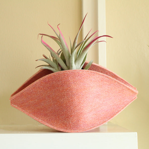 CHERRYSTONE® Upcycled Fabric Indoor Potted Plant Cover | Marc Pascal Designer Shape | Medium | Pink - CHERRYSTONE by MARKET TO JAPAN LLC