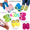 FOR KIDS | CHERRYSTONE® Slipper Socks | Candy Color with Grips | Peach | 2-4T - CHERRYSTONE by MARKET TO JAPAN LLC