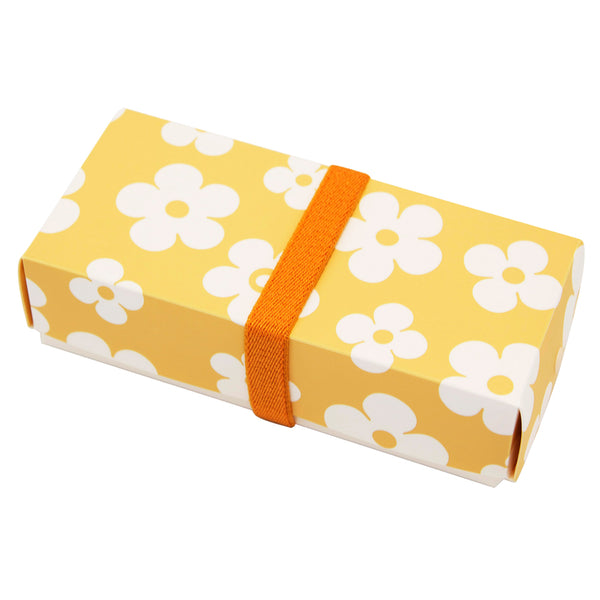Reusable Foldable Lunch Box | Regular | Yellow Flower Pattern - CHERRYSTONE by MARKET TO JAPAN LLC