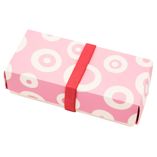Reusable Foldable Lunch Box | Regular | Pink Circle Pattern - CHERRYSTONE by MARKET TO JAPAN LLC