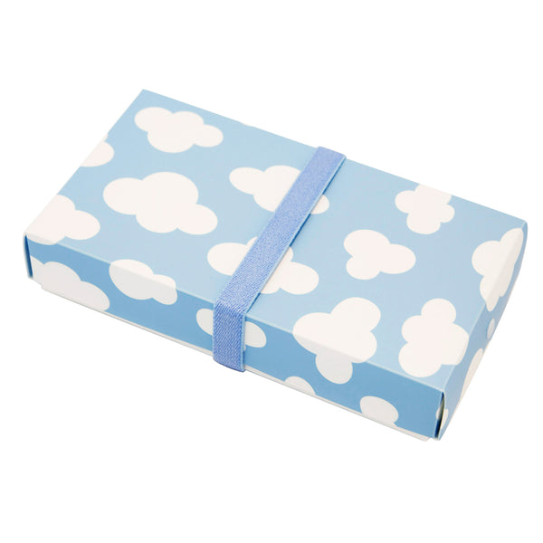 Reusable Foldable Lunch Box | Large | Blue Sky Pattern - CHERRYSTONE