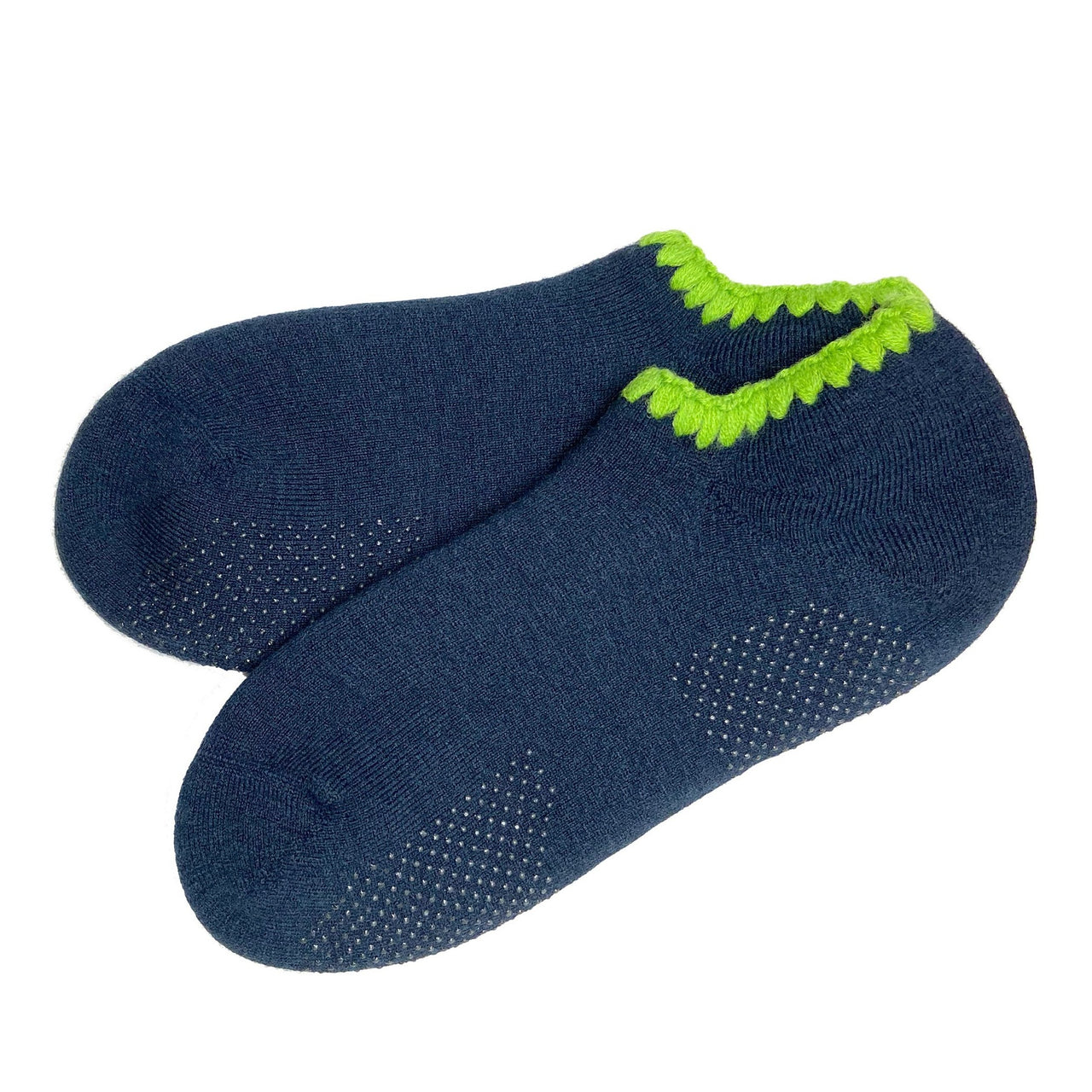 CHERRYSTONE® Slipper Socks | Seattle Limited Edition with Grips for Men | Midnight Blue - CHERRYSTONE