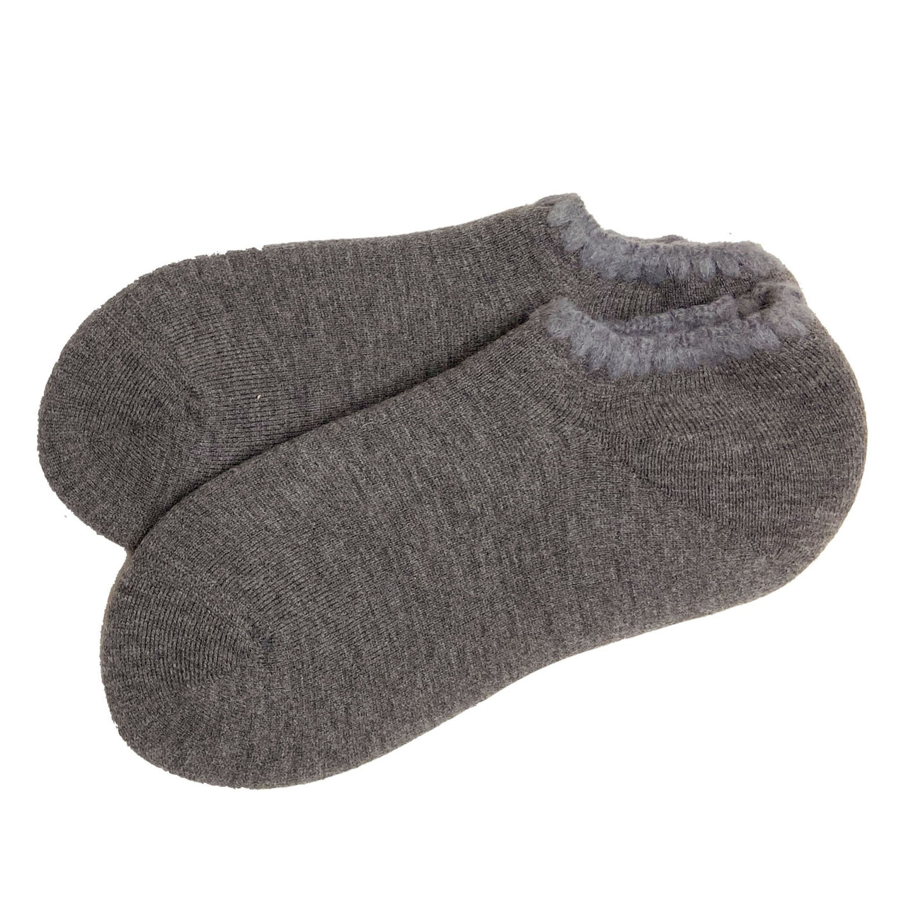 CHERRYSTONE® Slipper Socks with Grips | Size Large | Slate Gray - CHERRYSTONE