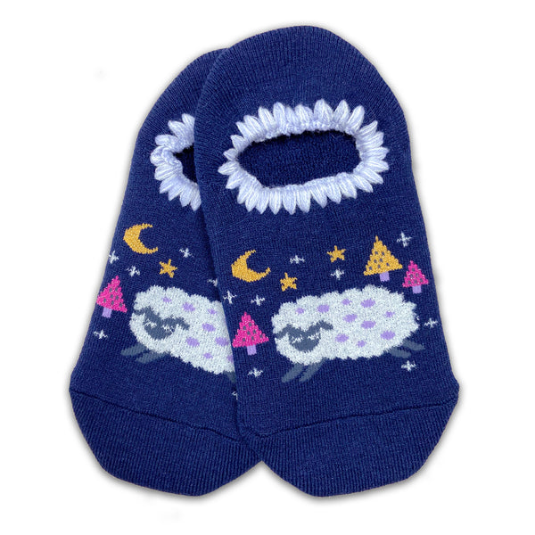 CHERRYSTONE® Slipper Socks | Animal Designs | Sheep | Navy - CHERRYSTONE by MARKET TO JAPAN LLC