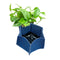 CHERRYSTONE® Upcycled Fabric Indoor Potted Plant Cover | Hexagon Medium | Navy - CHERRYSTONE by MARKET TO JAPAN LLC