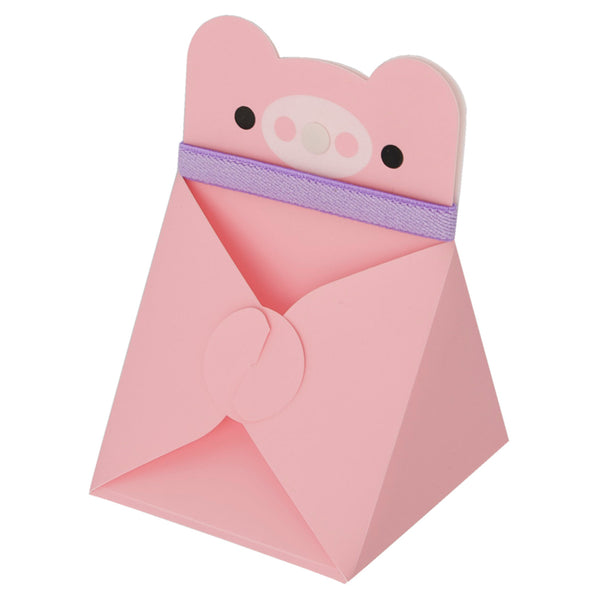 Reusable Foldable Animal Snack Box | Pink Pig - CHERRYSTONE by MARKET TO JAPAN LLC