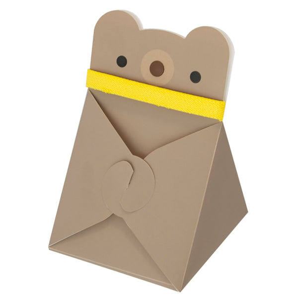 Reusable Foldable Animal Snack Box | Bear - CHERRYSTONE by MARKET TO JAPAN LLC