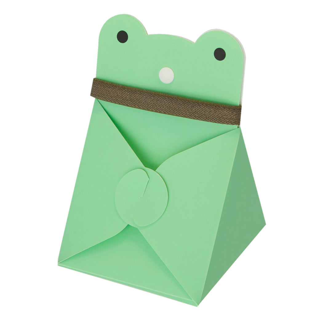 Reusable Foldable Animal Snack Box | Green Frog - CHERRYSTONE by MARKET TO JAPAN LLC