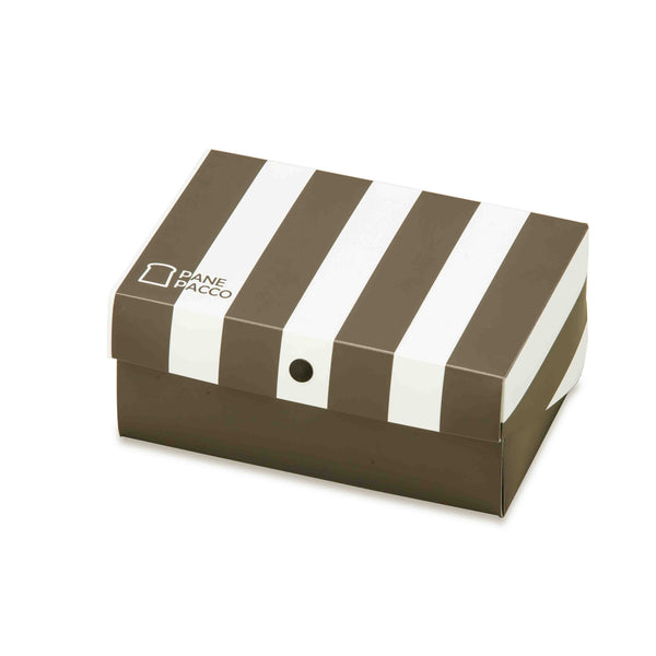 Reusable Foldable Sandwich Box | Black & White Stripes - CHERRYSTONE