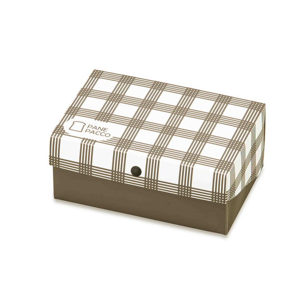 Reusable Foldable Sandwich Box | Black & White Plaid - CHERRYSTONE