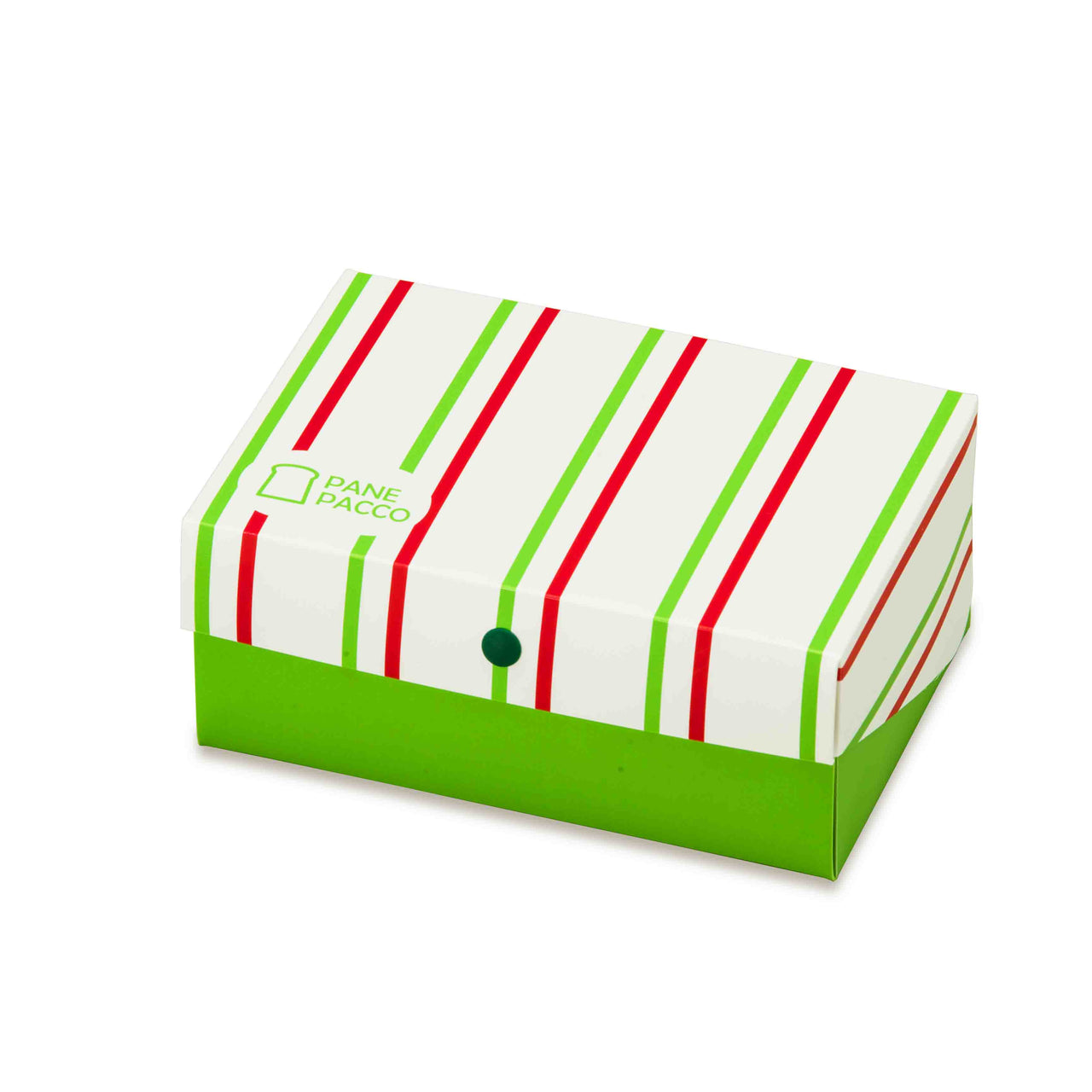 Reusable Foldable Sandwich Box | Striped Green & Red - CHERRYSTONE