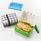 Reusable Foldable Sandwich Box | Striped Green & Red - CHERRYSTONE by MARKET TO JAPAN LLC