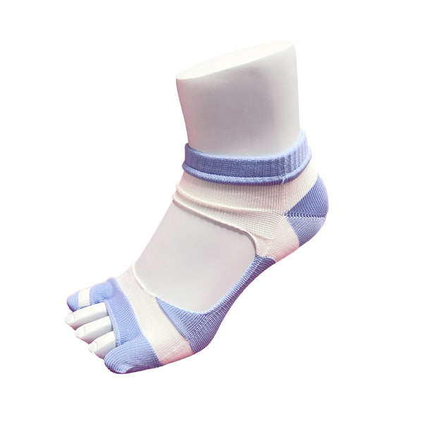 Bunion Support Foot Care Socks | White/Purple - CHERRYSTONE by MARKET TO JAPAN LLC