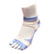 Bunion Support Foot Care Socks | White/Purple - CHERRYSTONE