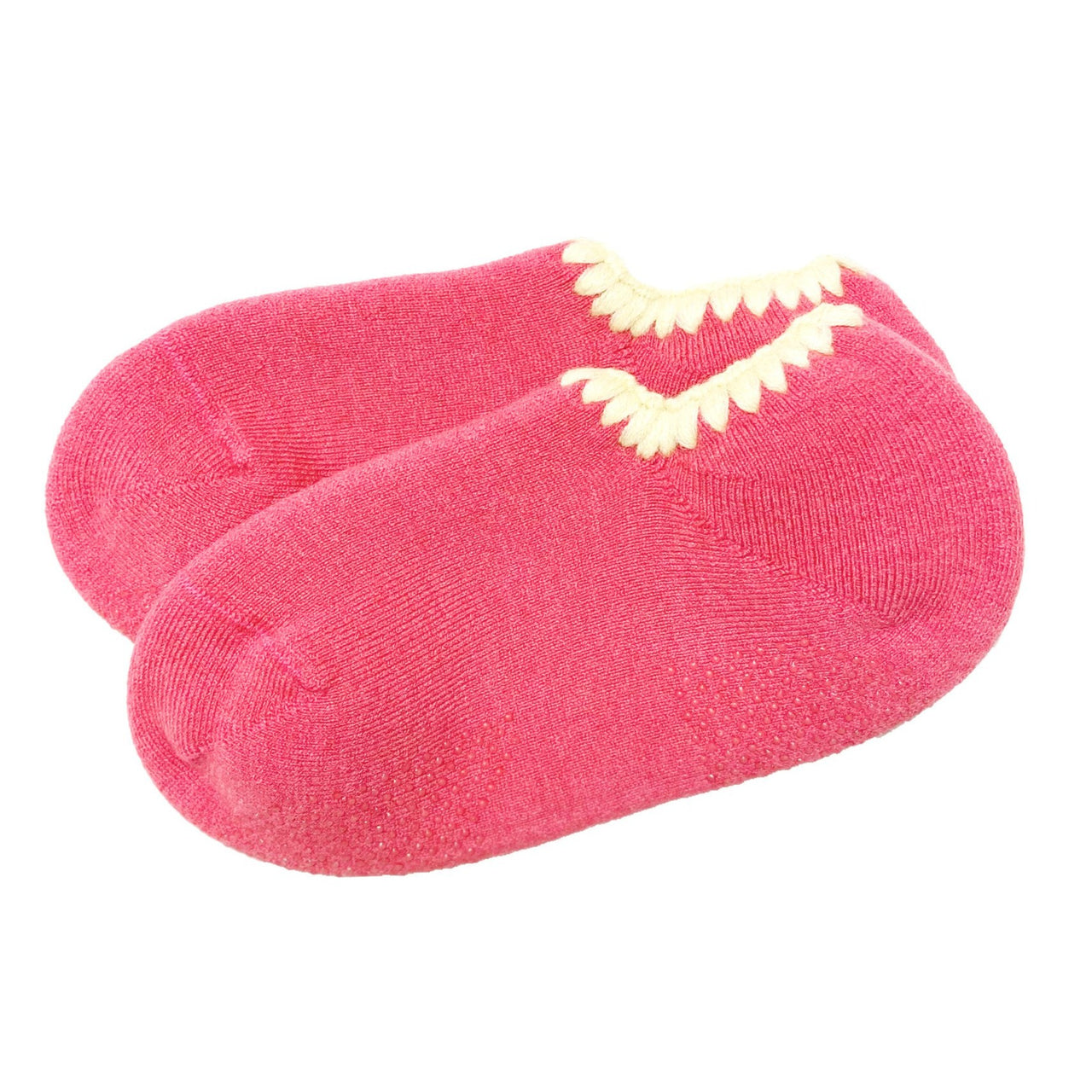 CHERRYSTONE® Slipper Socks | Classic Color with Grips | Pink - CHERRYSTONE