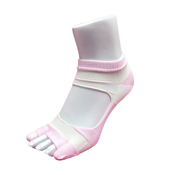 Bunion Support Foot Care Socks | White/Pink - CHERRYSTONE by MARKET TO JAPAN LLC