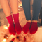 CHERRYSTONE® Slipper Socks | Turn Cuff with Grips | Red - CHERRYSTONE by MARKET TO JAPAN LLC
