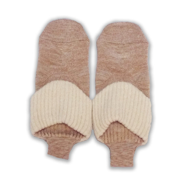 Loop Socks with Grips | Medium Size | Beige - CHERRYSTONE