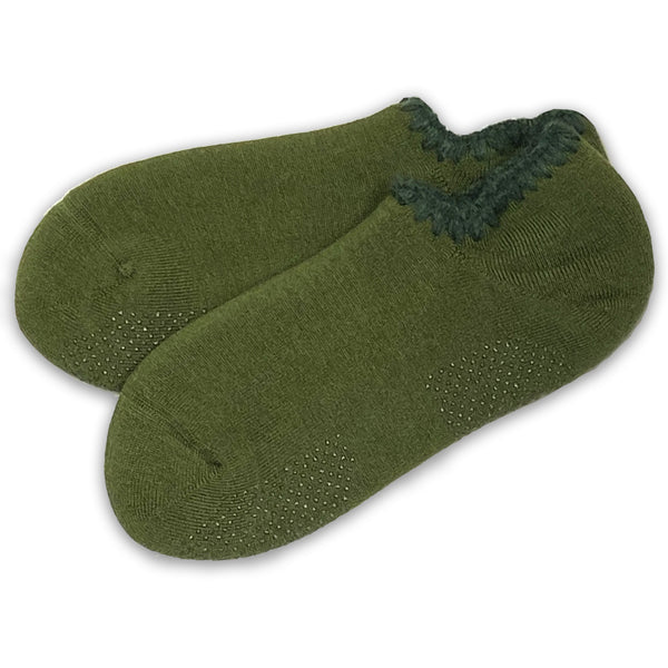 CHERRYSTONE® Slipper Socks with Grips | Size Large | *NEW!* Forest Green - CHERRYSTONE