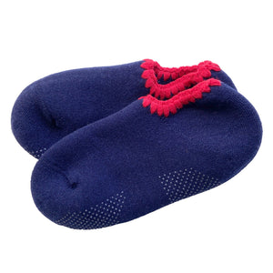 CHERRYSTONE® Slipper Socks | Classic Color with Grips | Navy