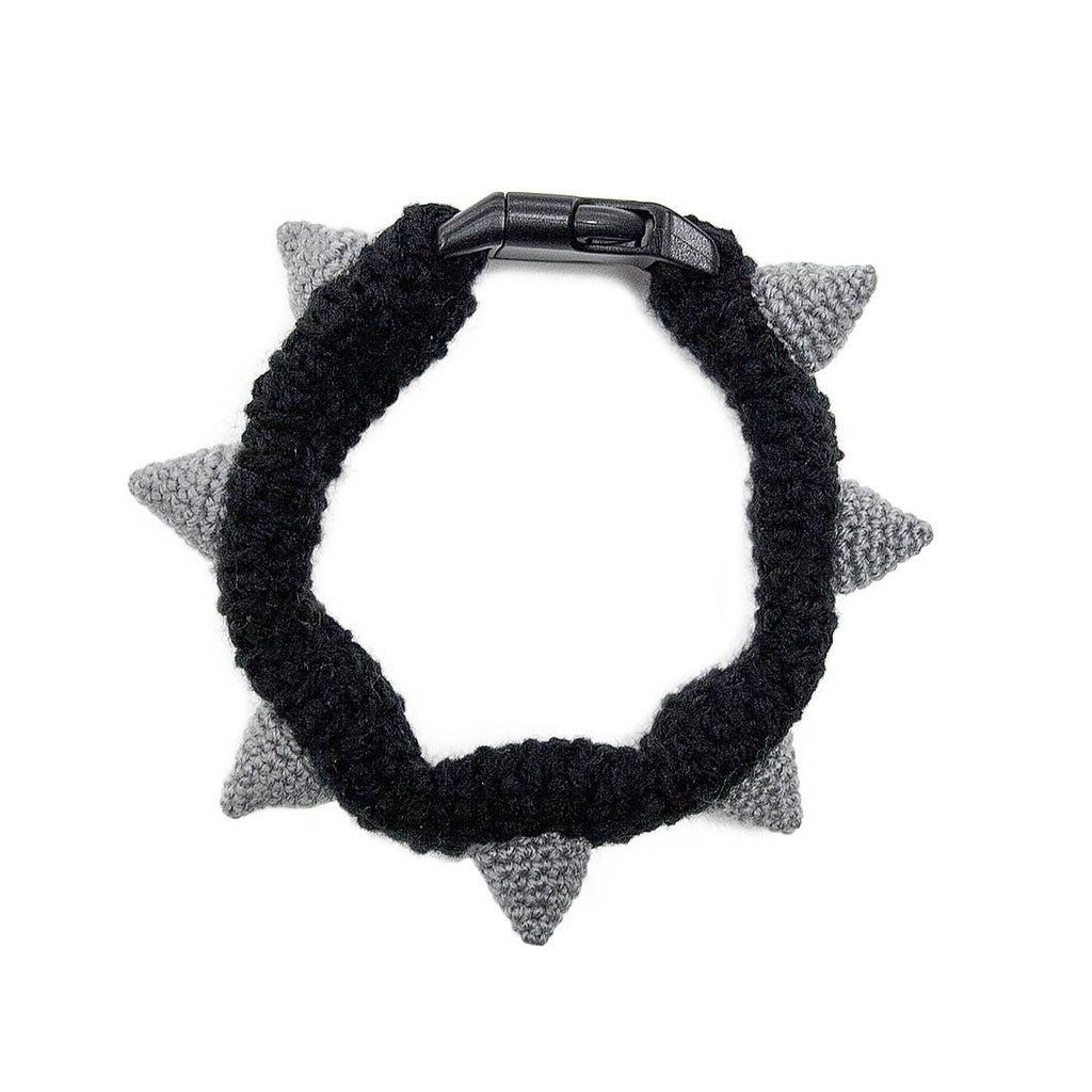 Dog Snood Costume Crochet Spiked Collar