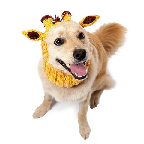 Dog Costume Giraffe Zoo Snood