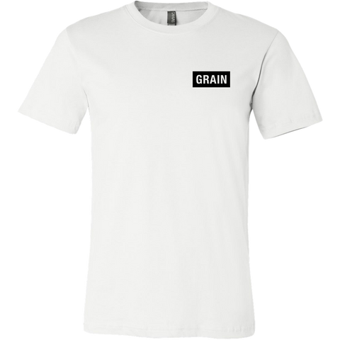 Grain Tee Black on White - Mens - Two Stops Film Photography Apparel