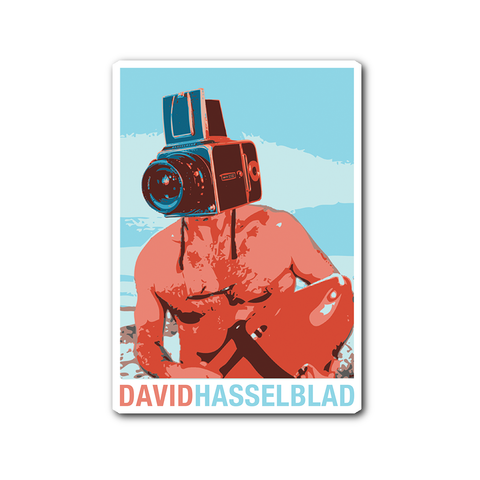 David Hasselblad Sticker - Two Stops Film Photography Apparel
