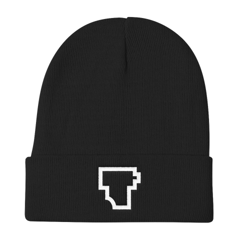 """Film T"" Embroidered Knit Beanie - Two Stops Film Photography Apparel"