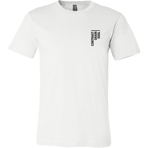 Contrast Grain Soul Tee Black on White - Mens - Two Stops Film Photography Apparel