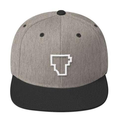 """Film T"" Wool Blend Snapback - Two Stops Film Photography Apparel"