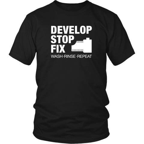 Develop Stop Fix - Mens - Two Stops Film Photography Apparel