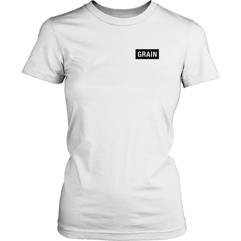 Grain Tee Black on White - Womens - Two Stops Film Photography Apparel