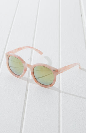 miami boho oversized round sunglasses
