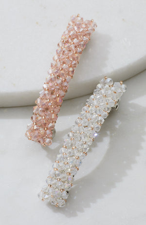 CRYSTAL BEADS BARRETTE SET