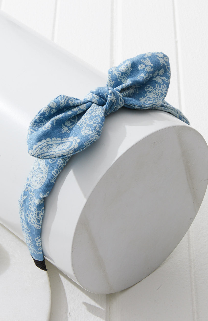 chambray paisley headband