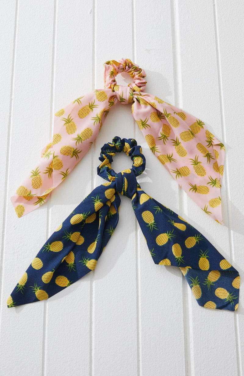Pineapple Scarf Scrunchie Set
