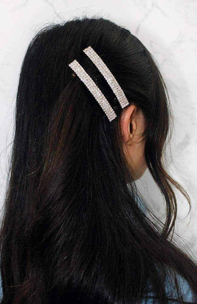diamond hair clip