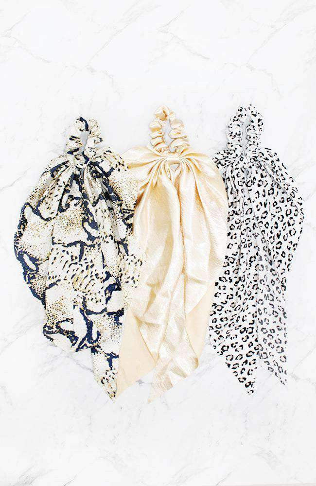 animal scarf scrunchie set